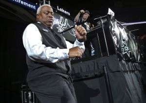 Eric Byrd is an usher at the AT&T Center, where he keeps audiences motivated with his dancing. Photo courtesy of the San Antonio Express-News